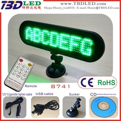 7*41 dots led car used moving diy sign board display with sucker
