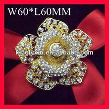 gold rose flower wedding Bridal pin ,shoulder brooch pins
