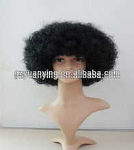 Afro short black russian hair for Russian man 5""