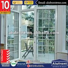 aluminum balcony glass door
