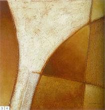 Design simples de alta qualidade puro pintados à mão pinturas a óleo de decoração geometria