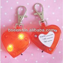 High brightness heart shape Dog ID Tag