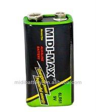 High quality 9V 6LR61 dry battery