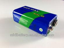 9V 6F22 zinc carbon dry battery