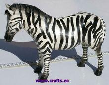 De madera de cebra. Talladas a mano estatua escultura de animales africanos tema talla