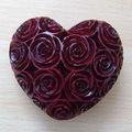 la conception de fleur de savon coeur de pierre