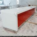 Akrilik katı yüzey mobilyaları resepsiyon, kompozit granit tezgahı