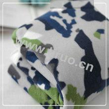 100% Polyester Spun Printed Velvet Fabric Polar Fleece
