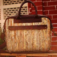 Golden Elegance Messenger Bag