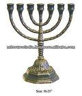 menorah judaica candelabra, brass menorah, handicraft menorah