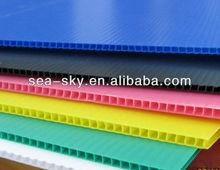 lower price Silkscreen black corrugated plastic/corrugated plastic board/corrugated plastic sheet