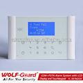 Francés de alarma antirrobo de voz inteligente gsm y pstn además de casa de infrarrojos solar alarmas antirrobo