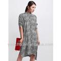 حار بيع الأزياء 2013 طباعة الحرير اللباس قميص طويل الأكمام