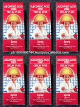 6 Ceelin Vitamin C Ascorbic with Zinc Apple Flavor 120ml each
