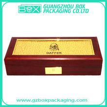acrylic lid fancy wooden packaging box