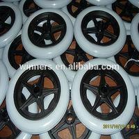 200mm small PU solid foam wheel/plastic PU foam wheel
