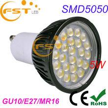 CE/Rohs High Luminance 5W SMD5050 85-265V purple spot lights