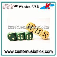 wooden usb flash drive dice shape