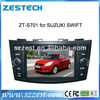 ZESTECH FACTORY SUZUKI SWIFT DVD GPS Bluetooth Ipod Control Car Audio Player Car DVD Player for SUZUKI SWIFT