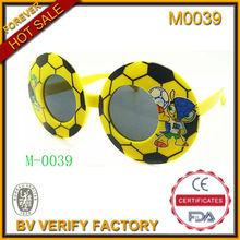 2014 POP OEM Wholesale Custom LOGO Football Shaped Sunglasses for Celebrate Party(M0039)