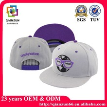 Fashion embroidery charcoal wool baby snapbak cap hat