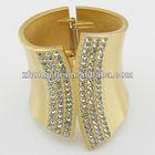 Latest Alloy bangles brushed gold filled bangles(BL112)