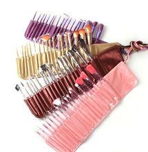 professional 18pcs brush set makeup,pink/brown/grey/purple for choosing