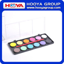 12 colors dia2.1cm Dry Watercolor Painting for Sale School Supply