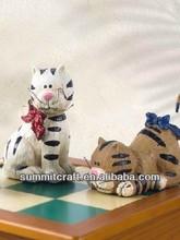 Custom resin three lovely cats resin miniature animals
