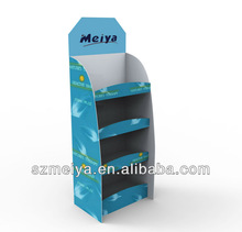 Custom promotion cardboard display shelf, shop display furniture for dress shoes,hats,gloves,shoes