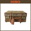 vintage toile et cuir éminents chariot à bagages