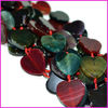AB0182 Multicolor dragon veins agate heart beads,heart shaped gemstone beads