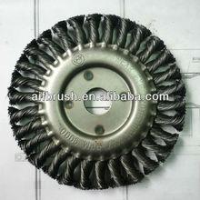 china 6'' diameter angle grinder brush wheel twist Knot Wire Brush/Regular Twist