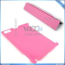 Hard back case and ultra-thin smart leather cover case for ipad 2