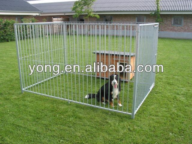 En acier galvanis tube carr chien cl ture cages de qdyc barri res de circulation id du produit for Cloture jardin pour chien