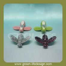 Dragonfly shaped ceramic fridge magnet