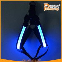 Led dog products lighting dog harness TZ-PET5205 dog light up harness