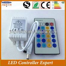 2014 clear function DC12V/24V IR 24 Key Single Color LED Controller