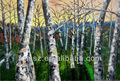 Arbre paysage peinture à l'huile à la main et de la forêt