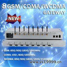 wcdma gsm gateway 8 port 32 sim card 8 port wireless network communications