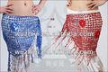Dança do ventre tribal agradável baratos longo lenço de quadril, dança do ventre vestido de desempenho, dança acessório( yl010)