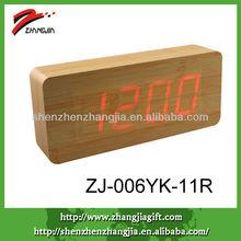 wooden digital desktop led alarm clocks
