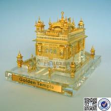 Crystal Golden Temple Model for Sale