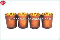 4 pieces gold color glass candle holders wholesale turkish lamps decorative mason jars