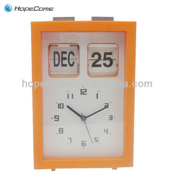 (HC2602) desktop retro flip clock with flip analog clock function