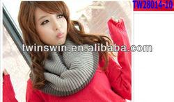 2013 latest new design fashion winter lady neckerchief warm knitted scarf