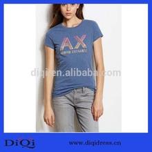 Wholesale Apparel Ladies Fashion Beaded Logo T Shirt (DQ9383)