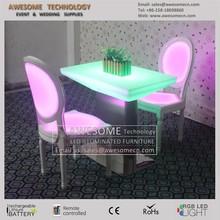 LED bistro furniture for hotel