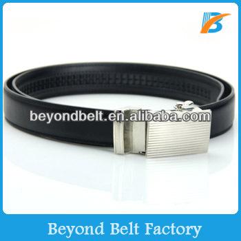 Beyond Slide Belts Men's Bar Striped Leather Belt - Custom Fit