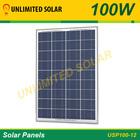 100 Watt 12 Volt Unlimited Solar Polycrystalline Solar Panel